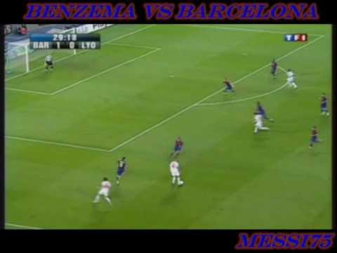 Benzema frente al Barcelona