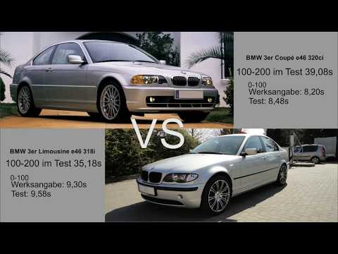0-200 BMW e46 320ci 2,2 M54 VS 318i 2,0 N42 || Car Performance Battle