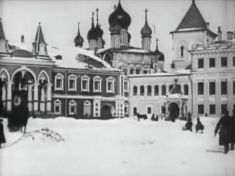Filmaufnahmen aus Moskau im Jahre 1908