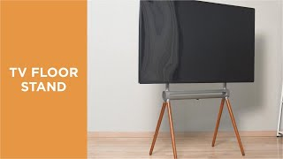 Living Room Furniture Height Adjustable Easel Studio TV Floor Stand youtube video
