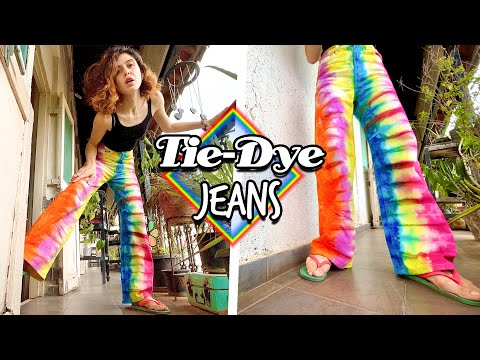Tie-Dye Jeans! || Easy DIY