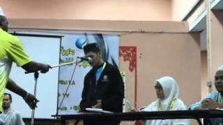 مسابقة المناظرة بين مجموعة الفراهيدي والجرجاني في دورة اللغة العربية المكثفة لطلاب المنحة 2015
