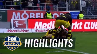 Christian Pulisic scores late equalizer against Ingolstadt | 2016-17 Bundesliga Highlights by FOX Soccer