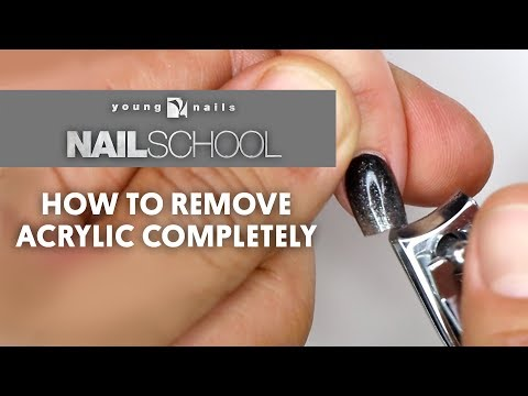 Acrylic nails - YN NAIL SCHOOL - HOW TO REMOVE ACRYLIC COMPLETELY