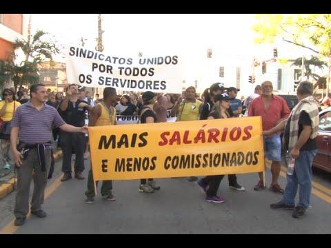 Manifestação dos servidores públicos de Cubatão paralisa vias