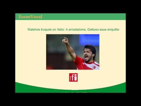 Matches truqués en Italie: 4 arrestations, Gattuso sous enquête (Italie)