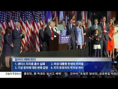 트럼프의 승리  클린턴의 패배11.9.16 KBS America News
