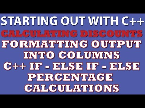 C++ Programming Challenge: Calculating Discount (C++ if statements, C++ if – else if – else, C++ formatting output)