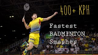 Video Fastest BADMINTON SMASHES (400 KPH) 最快的羽毛球杀球 MP3, 3GP, MP4, WEBM, AVI, FLV Januari 2019