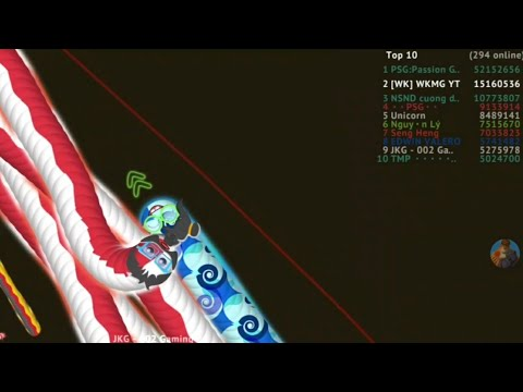 Wormate.io 15.30 Million Gameplay | Hunting 52 Million Worm | Epic/Amazing Gameplay