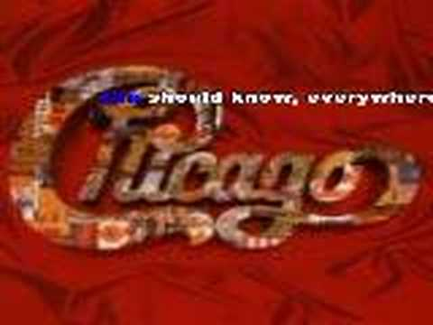Chicago - You're The Inspiration (karaoke)