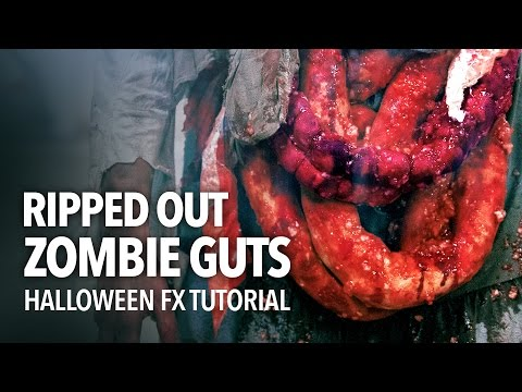 A Gruesome Ripped Out Zombie Guts Halloween Special Effects