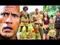 Jumanji 2 - Hilarious Behind the Scenes - Try Not To Laugh with Kevin Hart n The Rock - 2017