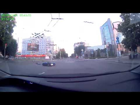 Авария с мотоциклистом в Рязани