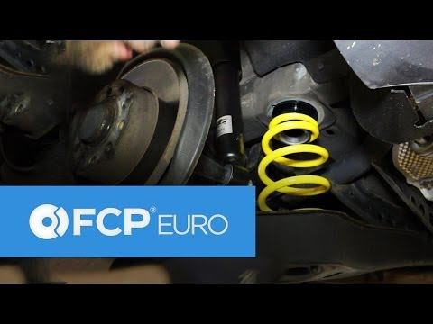 VW Rabbit Rear Coilover Install (ST Suspension, Shock Replacement, Golf) FCP Euro