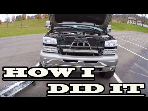 How To Install A Light Bar Behind The Grill Of 02-07 Silverado