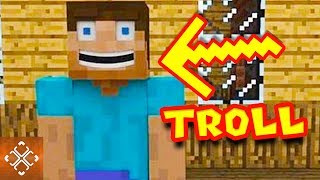 What Minecraft moments did we catch?! 10 Funny Trolling Moments Caught In Minecraft! subscribe now to TheGamer! https://goo.gl/AIH31G   Playing in a Minecraft server can come with all types of different features and obstacles. You may find that there crazy maps, challenging enemies, or crazy puzzles to solve. Other times there may be trolls to deal with. Minecraft trolling can be a pain, but it can also be extremely funny to watch. See some of the funniest trolling moments ever seen in the popular game. This includes players that think they have stumbled upon free diamonds. The only problem? An invisible zombie is lurking around the corner, waiting to eat their digital flesh.Some crazy contraptions have been made in Minecraft. One troll decided to create their own weather machine, but the only forecast was raining TNT boxes. A number of trolls use mods and features to turn completely invisible. By doing this, they can sneak up on opponents, make changes to the world, and have fun stalking their prey. A lot kids love playing Minecraft and one mother decided that her son needed a little lesson in proper trolling. Changing worlds around can create all types of chaos on Minecraft servers. This is exactly what happened when players learned how to flip buildings and houses completely upside-down. Levers are enticing to pull, but players will never learn to hold back and not fall for the obvious TNT traps that trolls have created. Over and over again, oblivious players pull on levers and create all types of problems. Other types of trolling includes stuck head covers, the trolling challenge games, and players pretending to be Minecraft police.