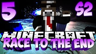 Minecraft Race to the Ender Dragon - S2 Episode 5 - Ender Dragon Death ( End Portal Race )