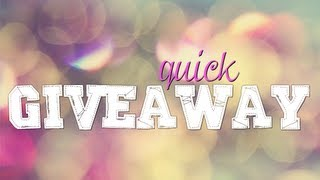 {closed} Quick GIVEAWAY + Life's struggles LOL!