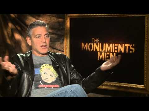 "The Monuments Men: Director George Clooney ""Stokes"" Official Movie Interview"
