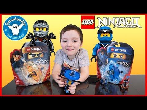 Lego NINJAGO Spinjitzu Masters! Cole + Jay Spinjitzu Master unboxing and playtime with Canadoodle