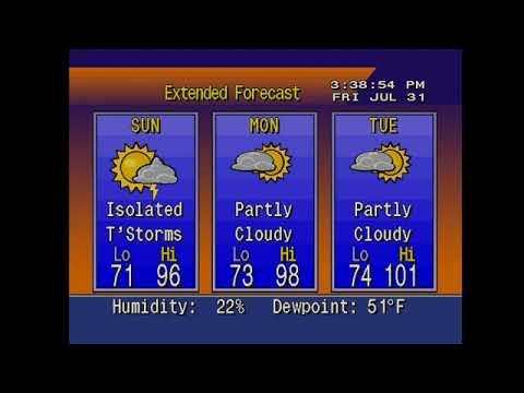 Weather Star 4000 El Paso TX 7/31/2020