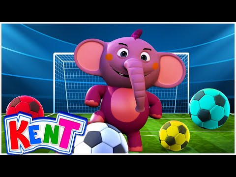 Funny Baby Elephant Playing with Soccer Balls and | Learning Videos for Kids, Toddlers