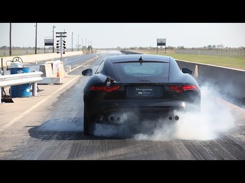 dyno - Hennessey Performance tests the HPE600 Jaguar F-TYPE R Coupe. Power is an impressive 518 rear wheel hp (623 hp at the motor). Acceleration testing yielded a best 0-60 mph time of 3.5 sec....