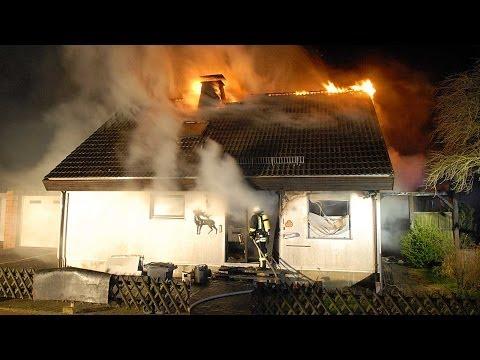 Wohnhausbrand in Basdorf am Edersee