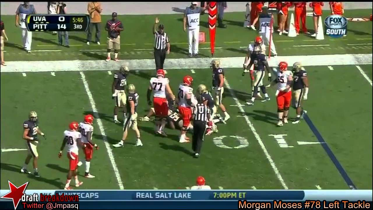 Morgan Moses vs Pittsburgh (2013)