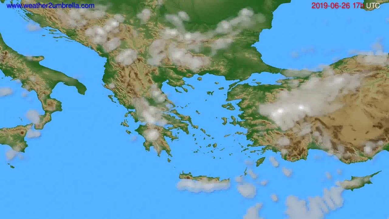 Cloud forecast Greece // modelrun: 00h UTC 2019-06-25