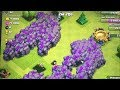 Clash of clans - 300 Golems & 300 Giants (mass Gameplay