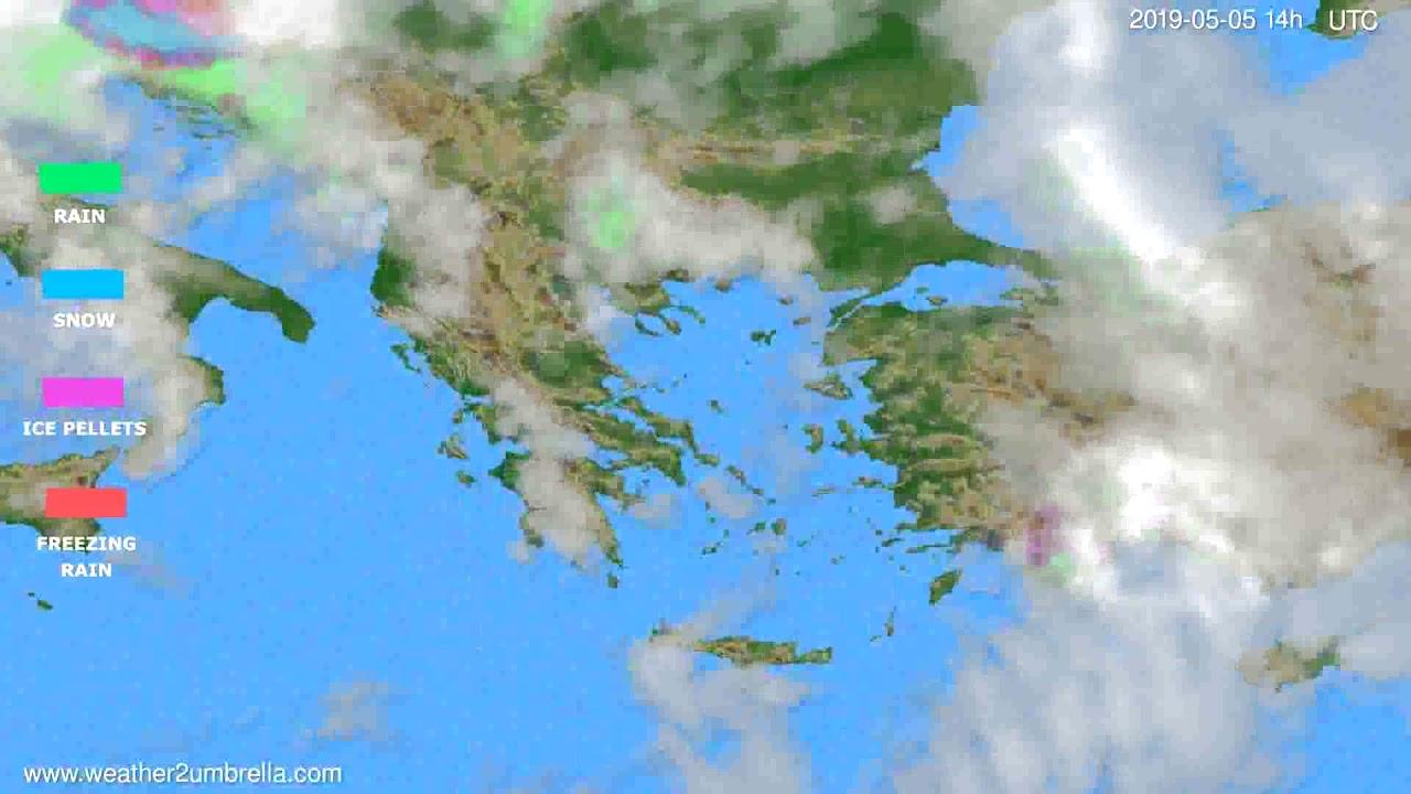 Precipitation forecast Greece // modelrun: 12h UTC 2019-05-02