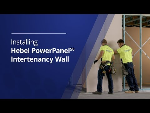 Installing Hebel PowerPanel50 low rise intertenancy wall system for townhouses