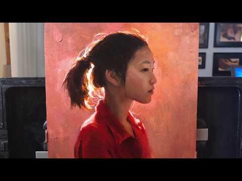 Taitava maalari maalaa taulun