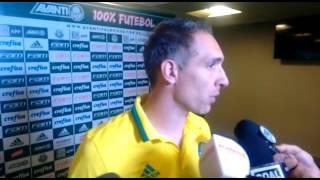 PALMEIRAS 4x0 FIGUEIRENSE - PRASS após o jogo em entrevista - PARTE 1