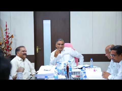 Minister Harish Rao Review on Kaleshwaram Project