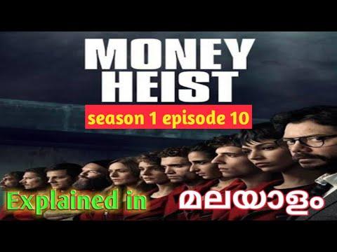 Money Heist Season 1 Episode 10 Explained In Malayalam/TV series/REVEAL TIMES/Malayalam
