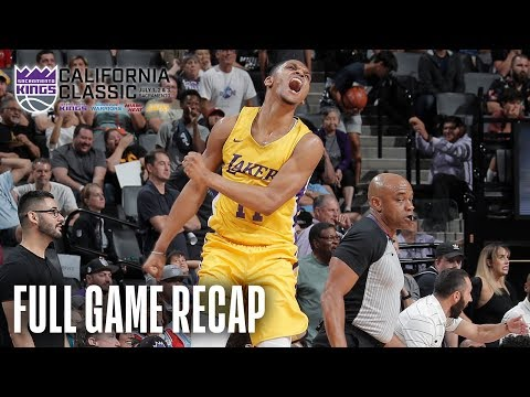 Video: LAKERS vs KINGS   Lakers Come Back From Down 21   California Classic