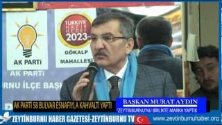 Başkan Murat Aydın 58 Bulvar Esnafıyla Kahvaltı Yaptı