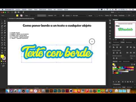 Texto Con Borde Illustrator Tutorial