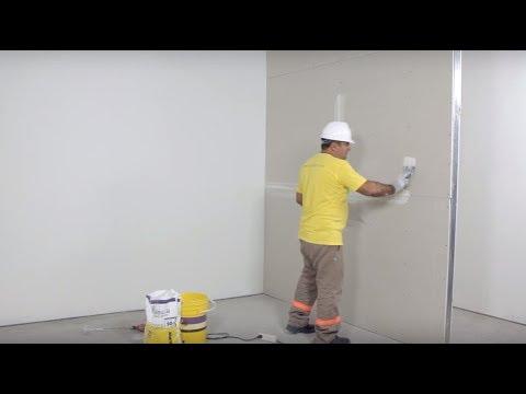 Tomado de juntas entre placas Durlock®: Construcción en Seco