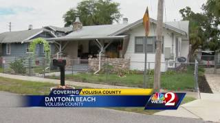 Police: Volusia man found bloodied, disoriented on godmother's porch murderedSubscribe to WESH on YouTube now for more: http://bit.ly/1dqr14jGet more Orlando news: http://wesh.com/Like us:http://facebook.com/wesh2newsFollow us: http://twitter.com/weshGoogle+: http://plus.google.com/+wesh
