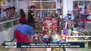 Pres. Duterte, pirmado na ang EO para sa regulation at kontrol sa mga paputok For more news, visit: ▻http://www.ptvnews.ph...