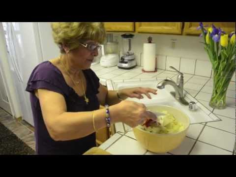 Mediterranean Diet: How to Make a Mediterranean Middle Eastern Potato Salad with Vegetables