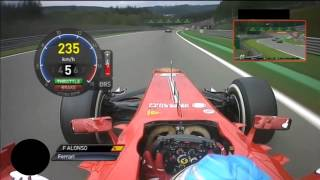 Video On board Fernando Alonso GP Belgium SPA F1 2013 MP3, 3GP, MP4, WEBM, AVI, FLV September 2018
