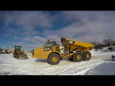 CATERPILLAR ARTICULATED TRUCKS 740B equipment video 4vuL6juzNkg
