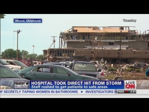 medical - Nick Stremble, RN and Moore Medical Center's ER manager talks about the direct F5 tornado hit.