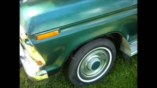 1979 FORD F150 Painted rear bumper Walk around View and Engine Rev