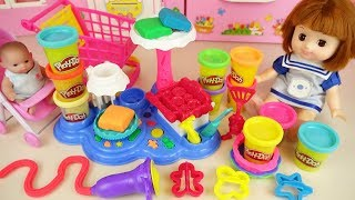 Play doh cake maker and baby doll toys kitchen play